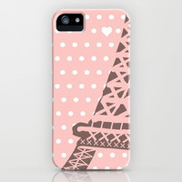 Paris iPhone & iPod Case by Pink Berry Pattern