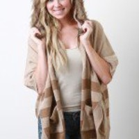 Wolves Of The Plains Poncho Cardigan
