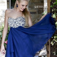 Sherri Hill 3879 Short Chiffon Prom Dress