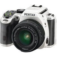PENTAX 13964 20.0 Megapixel K-S2 18-50WR Digital SLR Camera (18-50WR; White with Racing Stripe)