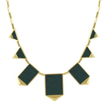 House of Harlow 1960 Jewelry Classic Station Pyramid Necklace in Juniper