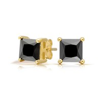 Bling Jewelry Classy Onyx Earrings
