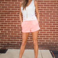 Bright This Minute Shorts, Coral