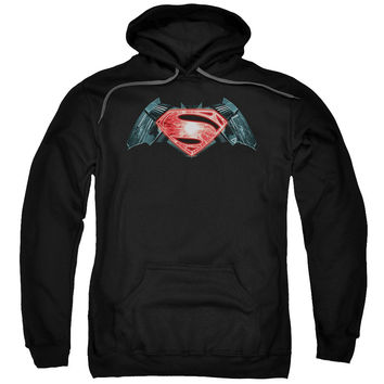 Batman V Superman Industrial Logo Mens/Youth Hoodie