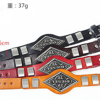 Fashion Punk  Rivets Adjustable Leather Wristband Cuff Bracelet - Great for Men, Women, Teens, Boys, Girls 2702s