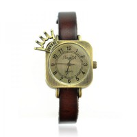 Square Watch with Cute Crown