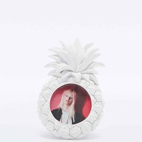 Pineapple Photo Frame in White - Urban Outfitters