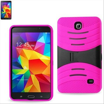 Samsung Galaxy Tab 4 7.0 / T230 Hybrid Silicone Case Cover Stand Pink