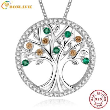 Tree Of Life 925 Sterling Silver Long Necklace for Women Vintage 2e8f035e71