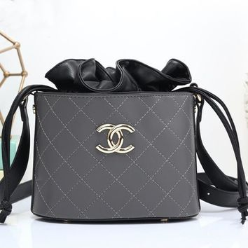 Perfect CHANEL Women Fashion Leather Shopping Satchel Shoulder Bag Crossbody