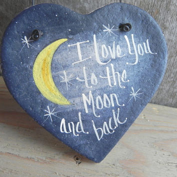 I Love You to the Moon and Back Salt Dough Ornament