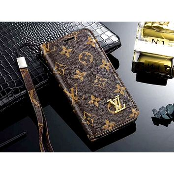 LV & GUCCI & Burberry Tide brand wristband all-inclusive holster iphone7 mobile phone case #1