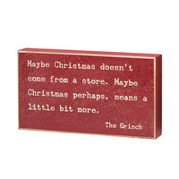The Grinch Box Sign