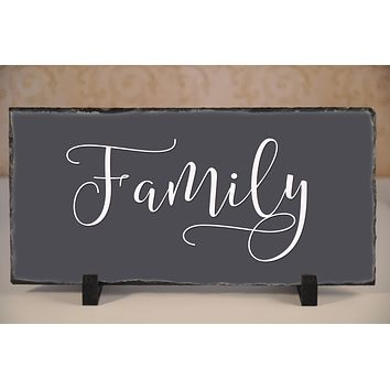 Handmade Slate Home Sign - Family Plaque