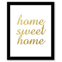 INSTANT DOWNLOAD, Home Sweet Home, Gold Foil Art, Printable Art, Entryway Art, New Home Gift, Housewarming Gift, Typography Art, Home Quote