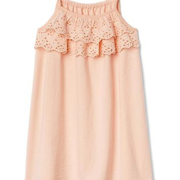 Eyelet ruffle bow dress | Gap