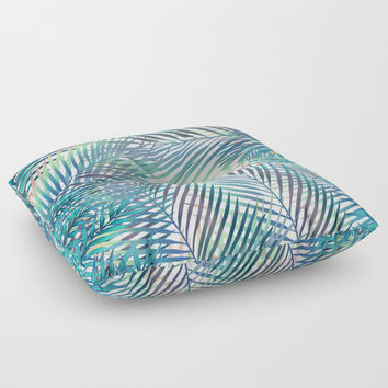 Tropical forest Floor Pillow by printapix