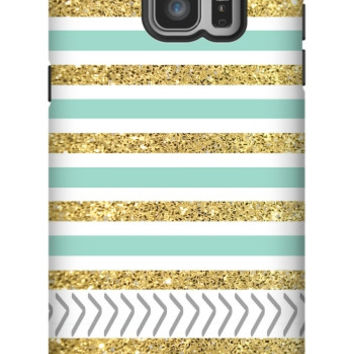Gold and Tiffany Personalized Galaxy Note 5 Extra Protective Bumper Case