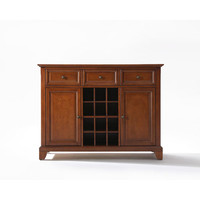 Crosley Furniture KF42001CCH Newport Buffet Server / Sideboard Cabinet with Wine Storage in Classic Cherry Finish