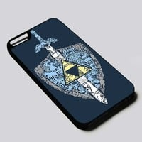 The Legend of Zelda Sword and Shield iPhone 4, 4s, 5, 5s, 5c, 6, 6 plus, 7, Samsung Galaxy S3, S4, S5, S6, S7 Case