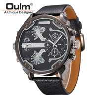 Luxury Brands Famous Unique Designer Quartz Watch Man Casual Leather Big Watches for Men erkek kol saati