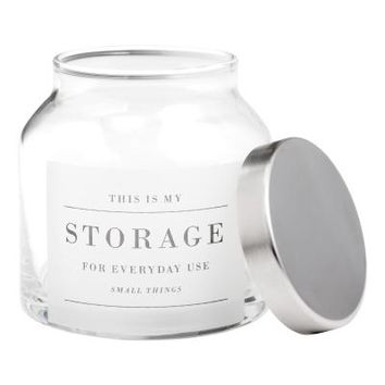 Small glass jar with a lid - Clear glass - Home All | H&M GB