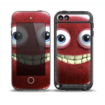 The Red Smiling Fuzzy Wuzzy Skin for the iPod Touch 5th Generation frē LifeProof Case