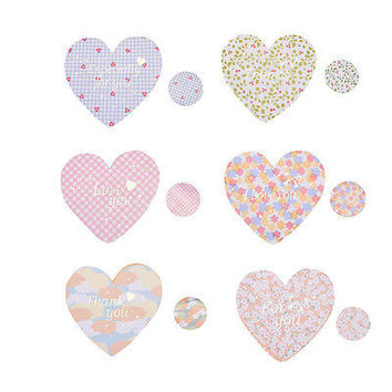 2 Set Heart-shaped Birthday Christmas Greeting Message Card Envelope Chic HU