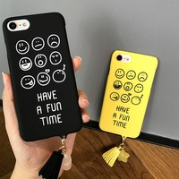 Phone Cases For iPhone 6 6s 7 Plus Case Smile Face