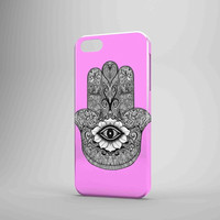 Evil Eye Hamsa Sweet Pink iPhone Case Samsung Galaxy Case FDL 3D