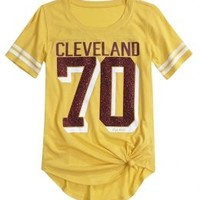Nba® Cleveland Cavaliers Tie Front Tee | Girls Nba® Mlb & Nba | Shop Justice
