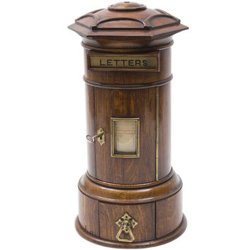 Victorian Country House Pillar Shaped Postbox, dated 1872 at 1stdibs