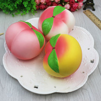 10cm Jumbo Kawaii Squishy Super Slow Rising Phone Strap Sweet Cream Scented Squishies Peach Kid Toy Gift
