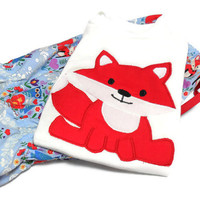 Baby Girl Outfit - Baby Bloomers and Bodysuit Set - Fox for Baby Girl  - Fox Bodysuit