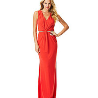 Laundry by Shelli Segal Twist-Front Gown - High Risk Red