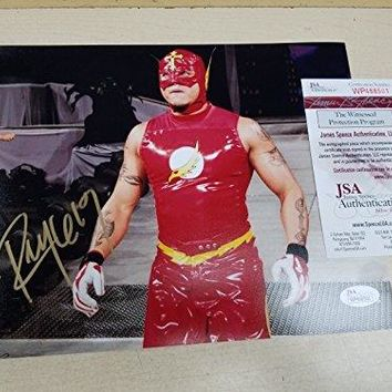 REY MYSTERIO FLASH Signed Autograph WWE WCW 8x10 Photo JSA AUTOGRAPHED