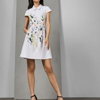 Ted Baker CHARSY Elegant scallop ponte dress