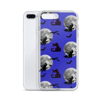 Apple iPhone Solid Case - Halloween, horror style with, cats pattern