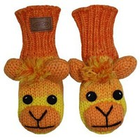 Kyber Yellow Sock Monkey Mittens -Adult