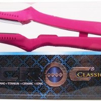 Turboion Wpt Croc Classic Pink Wet or Dry Straightener, Fuchsia, 1.5 Inch