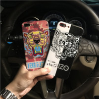 KENZO print phone shell phone case for Iphone 6/6s/6p/7p/7/8/8p/x