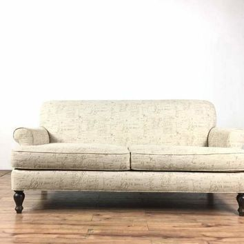 Contemporary Upholstered Two Cushion Loveseat
