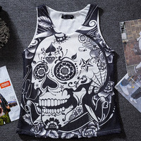 Skeleton mesh undershirt vest basketball hip-hop outfit