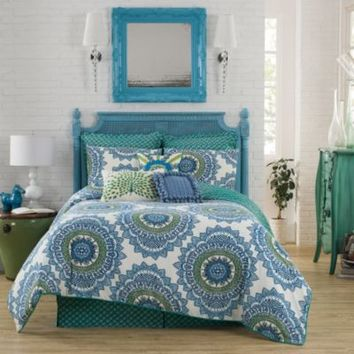 Anthology™ Bungalow Duvet Cover in Teal