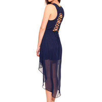 GYPSY WARRIOR - Corset Back Hi Low Dress
