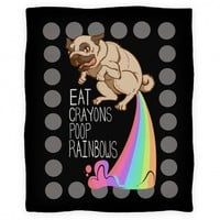 Eat Crayons Poop Rainbows Blanket