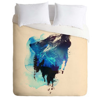 Robert Farkas Alone As A Wolf Duvet Cover