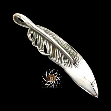 Beautiful Silver Feather Pendant - Native American Style Feather Necklace - Silver Jewelry - Tribal Jewelry - Feather Jewelry