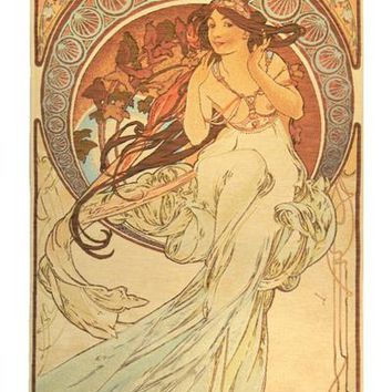 Music by Mucha French Tapestry