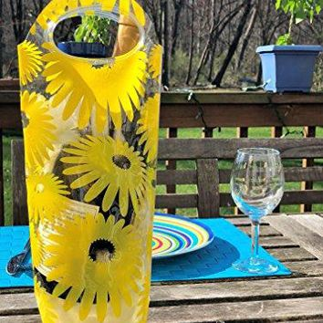 Portable Wine Chiller Bag  Cooler Tote uses Ice amp Water No Freezing Needed Best Gift Bag for Women amp Men Take Wine to Go amp Outdoors Keep Wine Insulated on Patio amp Pool